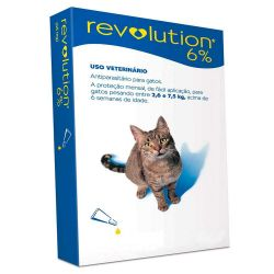 Antipulgas Revolution Zoetis Gatos de 2,6 a 7kg  - 6% - 0,75ml