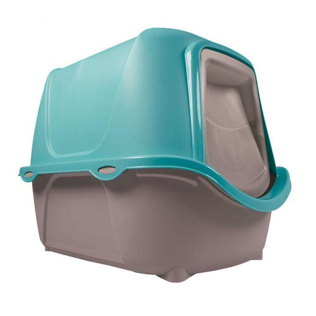 Caixa de Areia Fechada WC Cat New - Banheiro para Gatos Azul