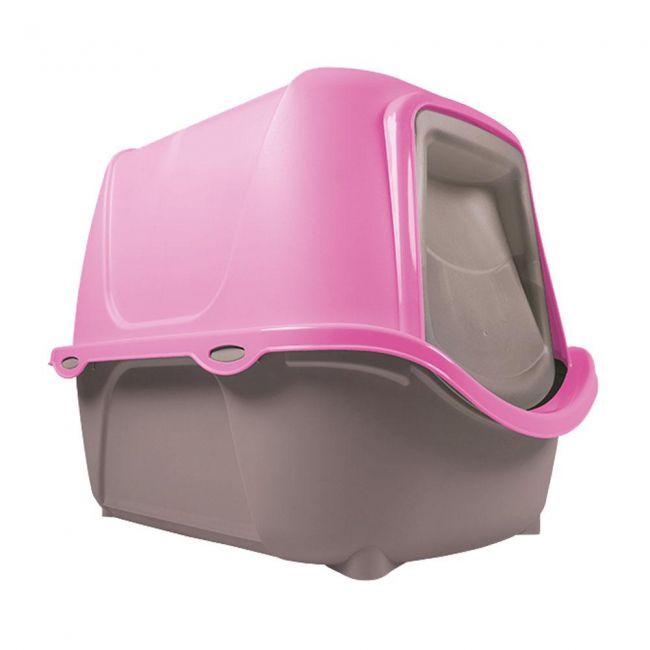 Caixa de Areia Fechada WC Cat New - Banheiro para Gatos Rosa