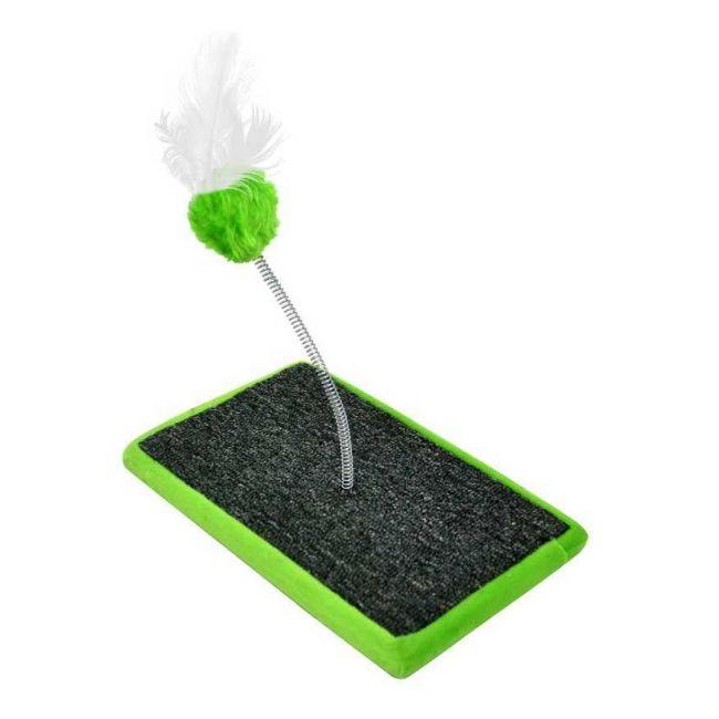 Brinquedo Gato Carpete Verde (17 X 27 Cm)