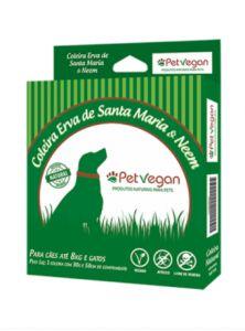 Coleira Antipulgas Erva de Sta Maria PetVegan - p/ Cães e gatos de até 8kg