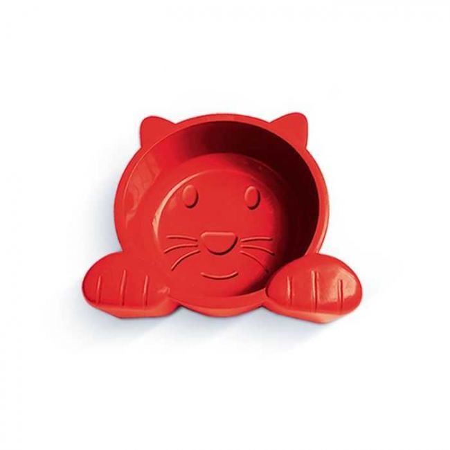 Comedouro Cat Face Vermelho