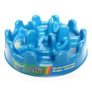Comedouro Cães Lento Pet Fit 27 cm - Azul
