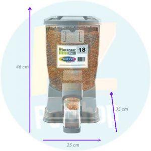 Dispenser Flex para Ração 18 Litros Plast Pet