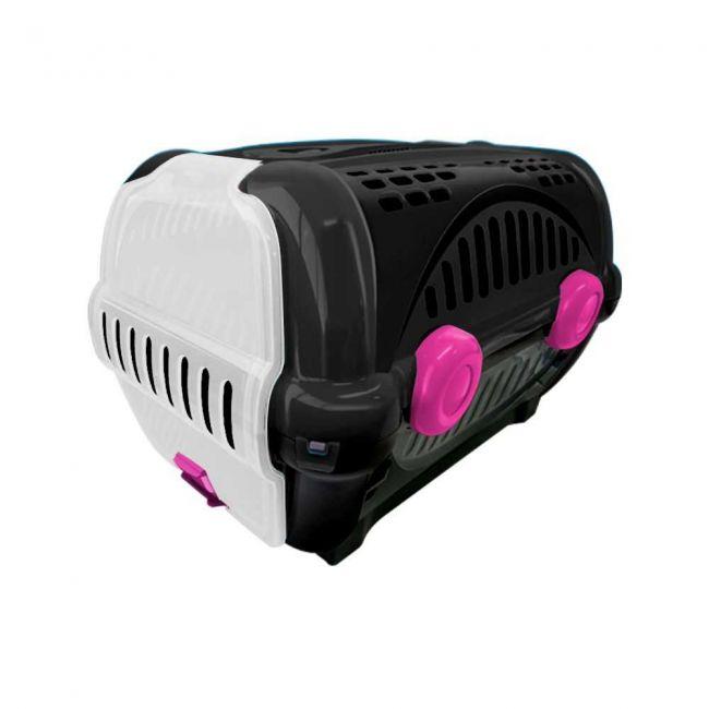 Caixa de Transporte Luxo N.1 Black Rosa Furacão Pet