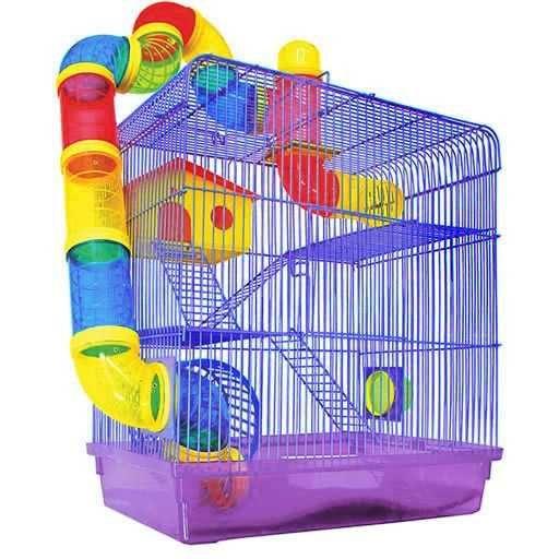 Gaiola Hamster Labirinto 3 Andares Lilás