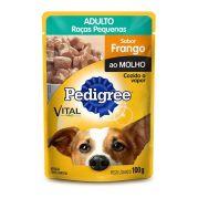 Sachê Pedigree Cães Adultos Raças Pequenas Frango ao Molho - 100g