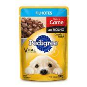 Ração Úmida Cães Pedigree Sachê Junior Carne ao Molho 100g