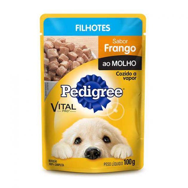 Pedigree Sachê Cães Filhotes Frango ao Molho - 100g