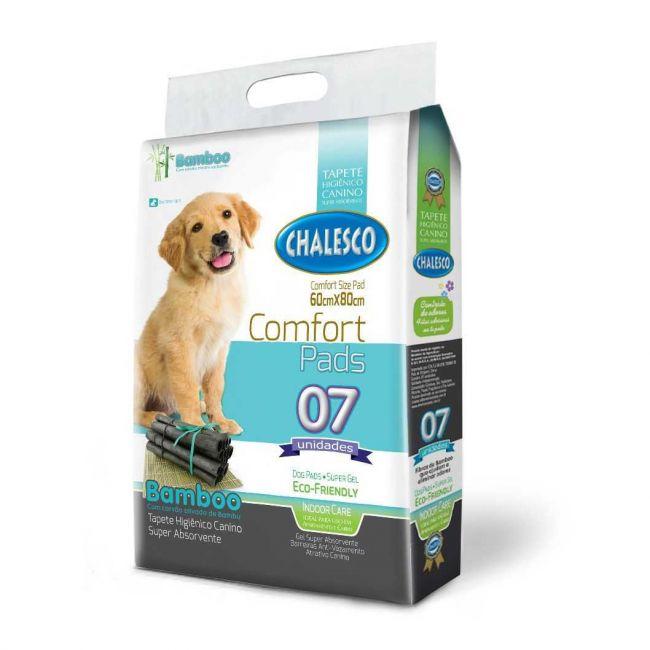 Tapete Higiênico Cachorro Carbono Confort Bamboo c/ 7 un