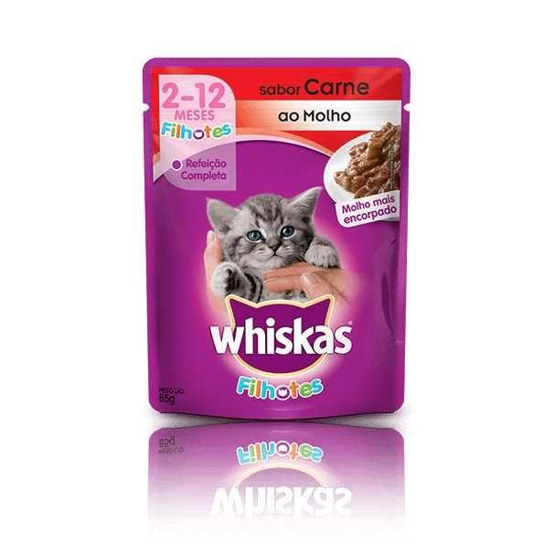 Whiskas Sachê Gatos Filhotes Carne 85g